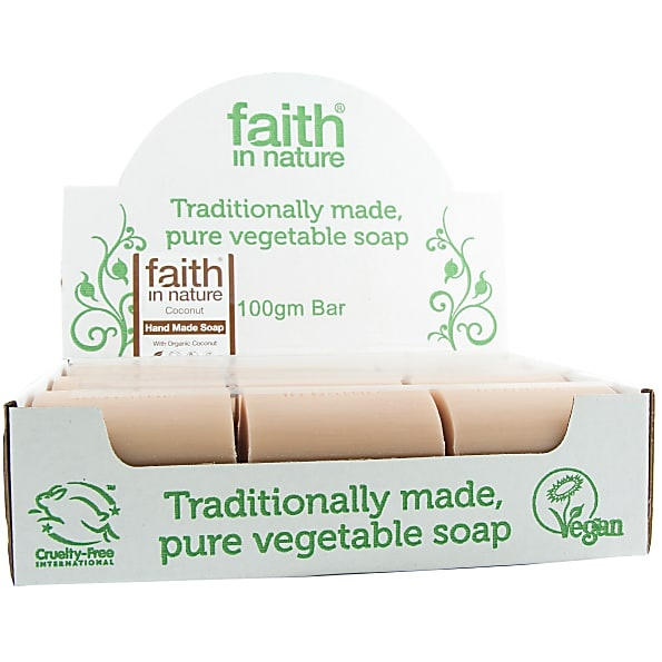 Faith in Nature Coconut Soap 18 x 100g