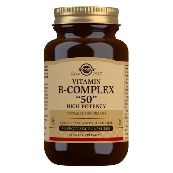 Solgar Vitamin B-Complex ''50'' High Potency Vegetable Capsules - Pack of 50