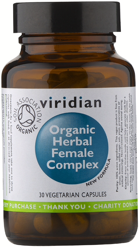 Viridian Organic Herbal Female Complex Veg Caps 30caps