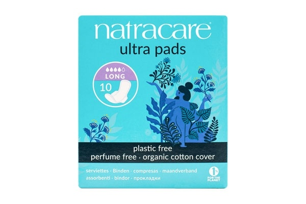 Natracare Ultra Long Period Pads With Wings 10's