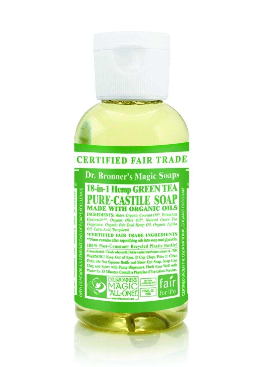 Dr.Bronner's Castille Green Tea Liquid Soap 59ml