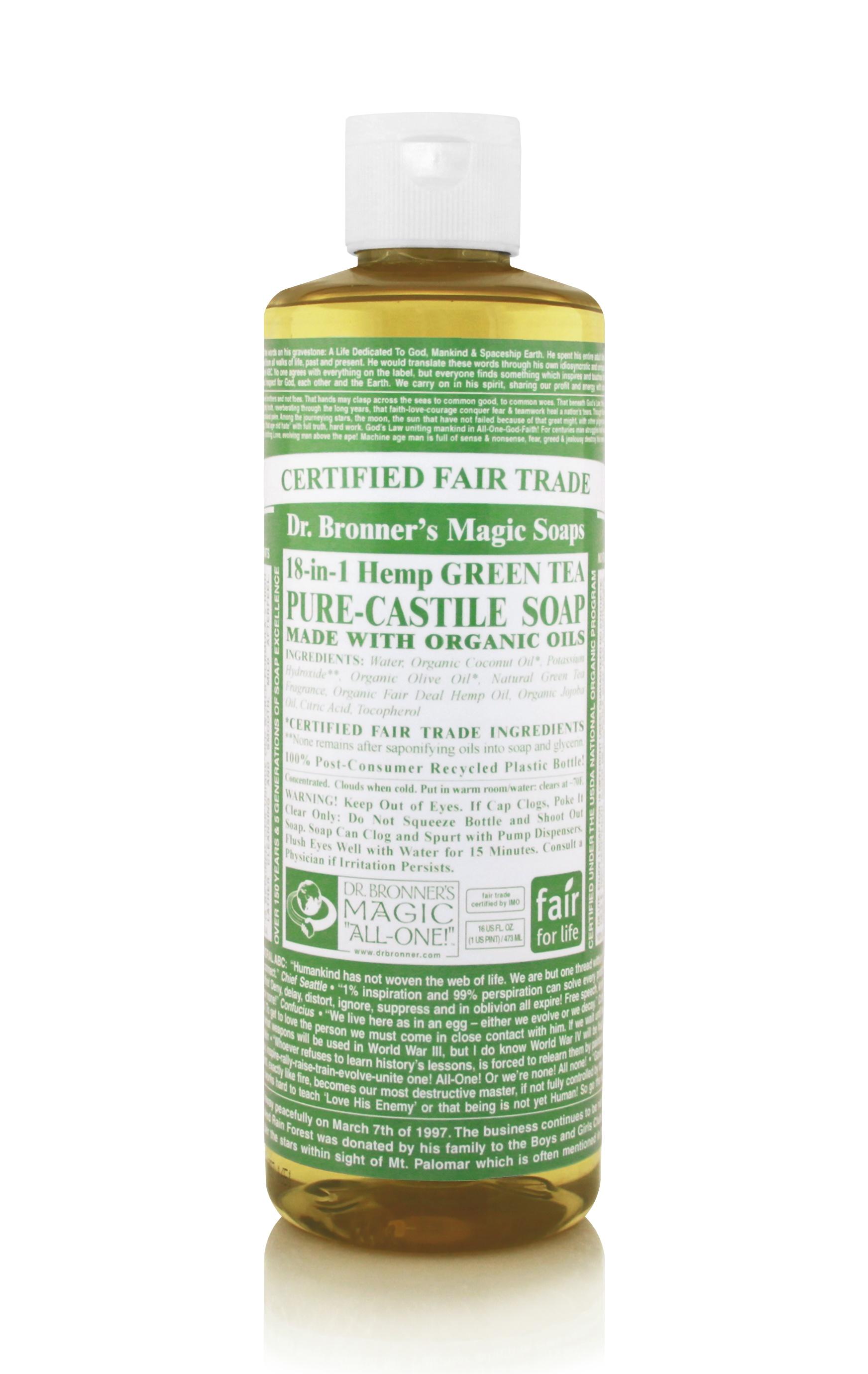 Dr.Bronner's Castille Green Tea Liquid Soap 472ml