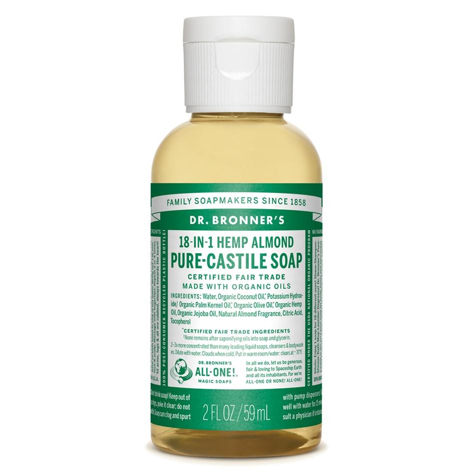 Dr.Bronner's Castille Almond Liquid Soap 59ml