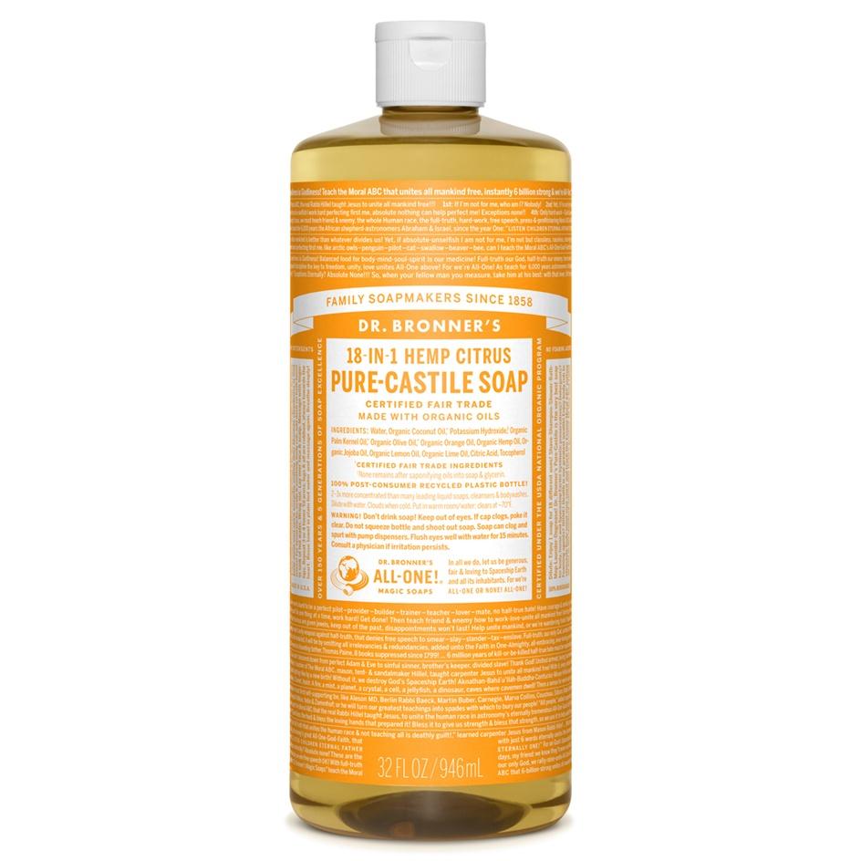 Dr.Bronner's Castille Citrus Organic Liquid Soap 946ml