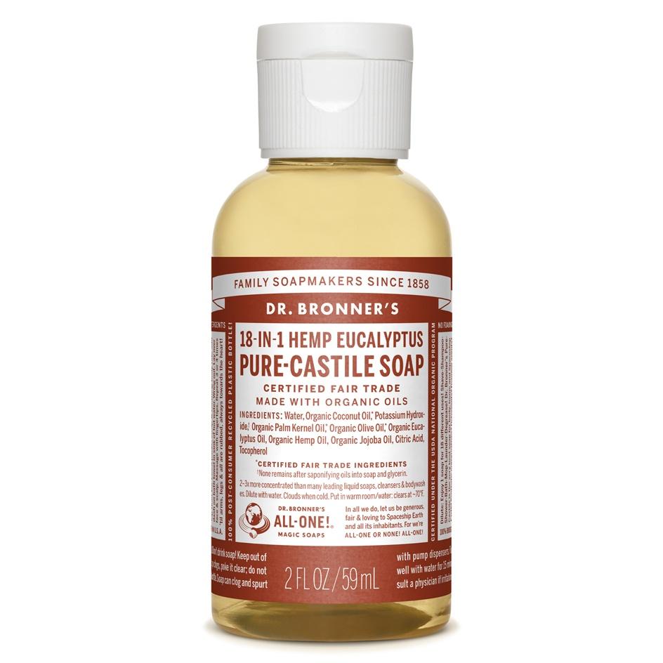 Dr.Bronner's Castille Eucalyptus Liquid Soap 59ml