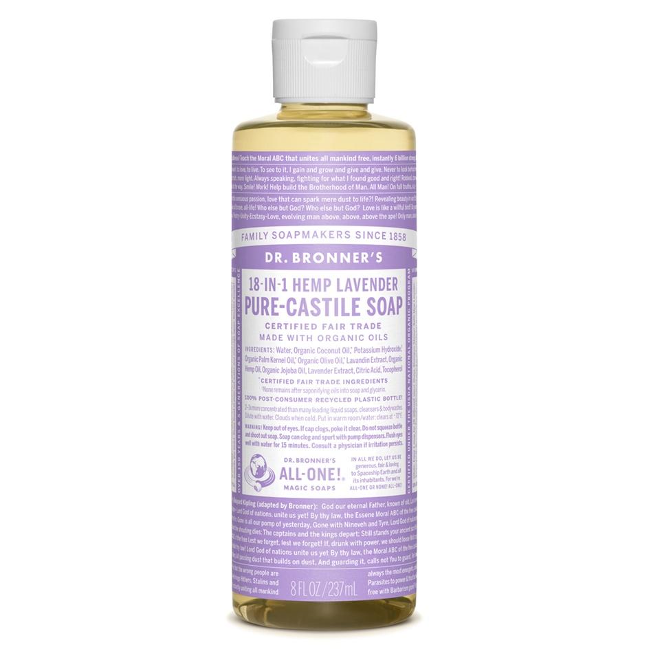 Dr.Bronner's Castille Lavender Liquid Soap 236ml