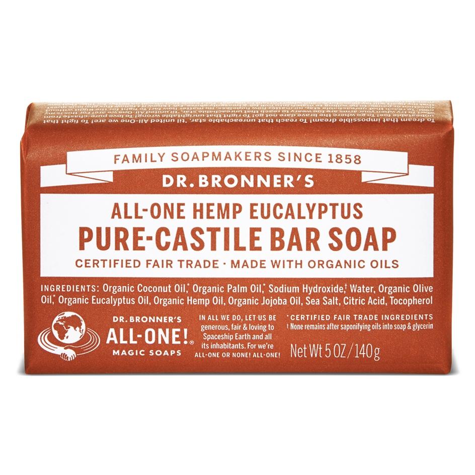 Dr.Bronner's Castille Eucalyptus Organic Soap Bar 140g