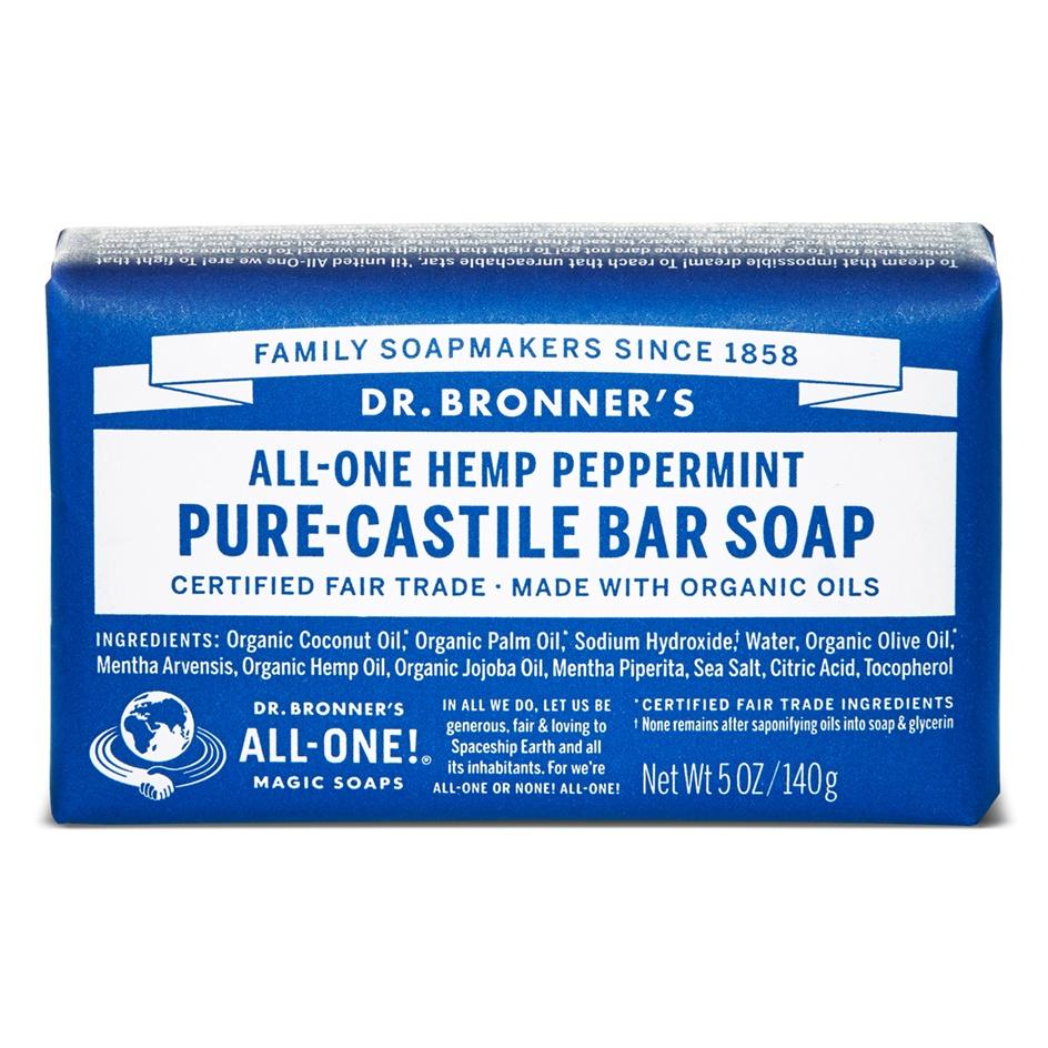 Dr.Bronner's Castille Peppermint Organic Soap Bar 140g