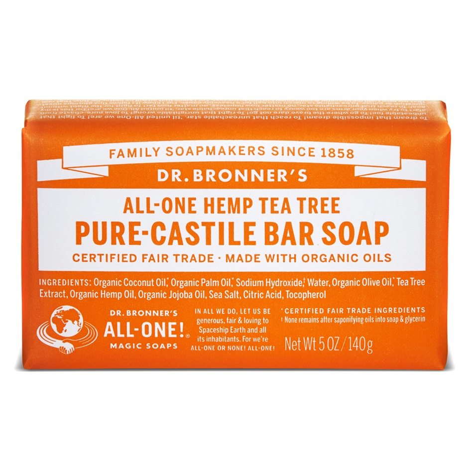 Dr.Bronner's Castille Tea Tree Organic Soap Bar 140g