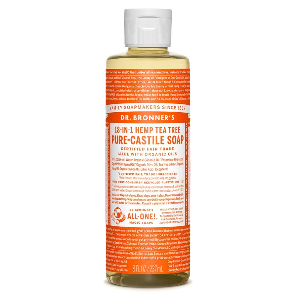 Dr.Bronner's Castille Tea Tree Liquid Soap 236ml