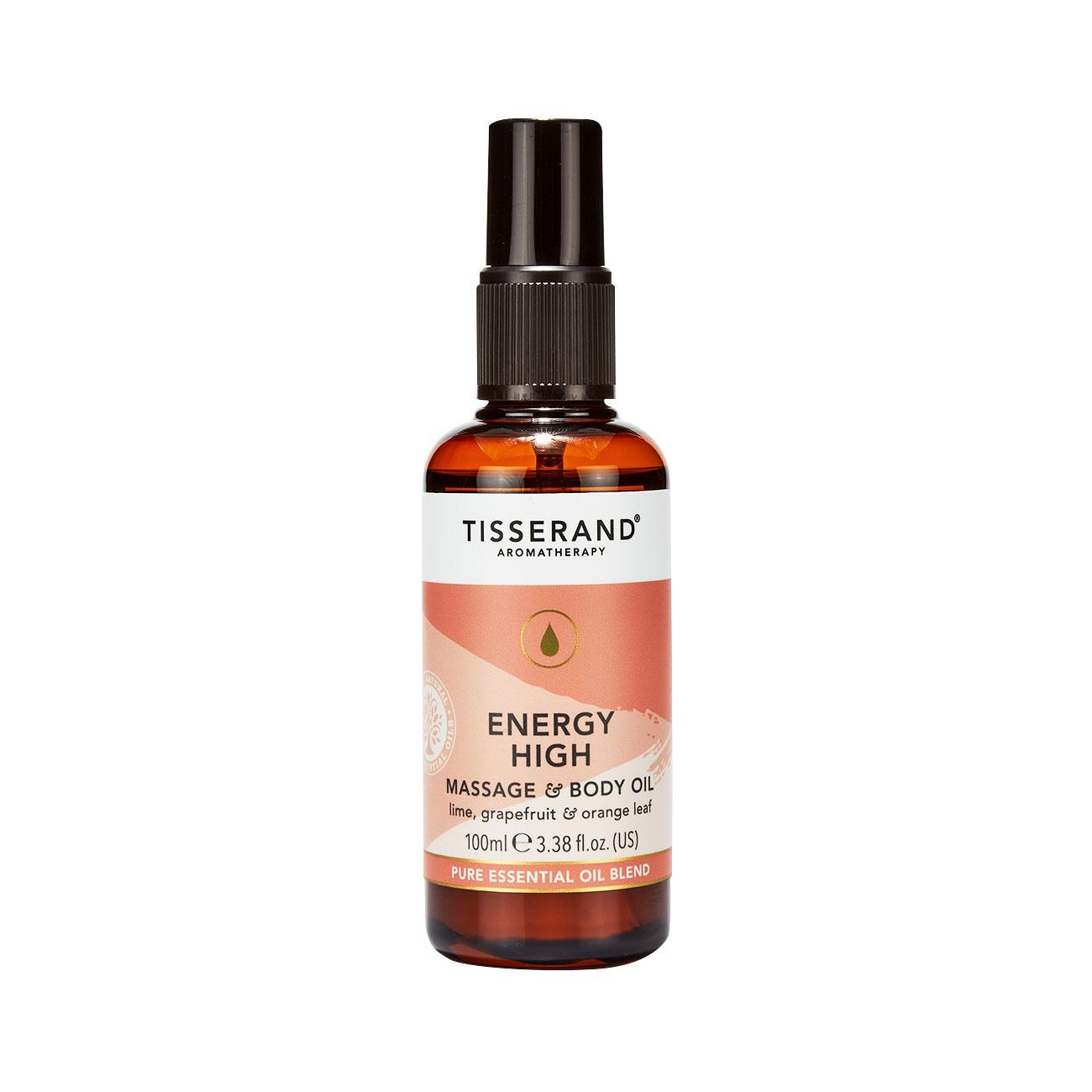 Tisserand Energy High Body Massage Oil 100ml