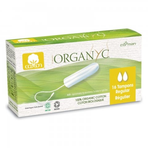 Organyc Organic Cotton Tampons Regular - 16 per pack