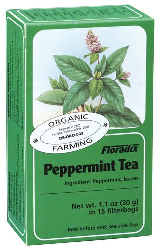 Floradix Peppermint Organic Herbal Tea 15 filterbags
