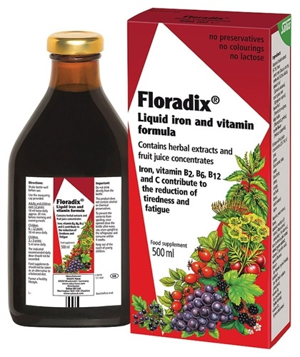 Floradix Iron,Vitamin and Herbal Formula 500ml