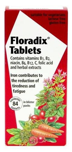 Floradix Tablets with Iron,Vitamins,Folic acid and Herbal extracts 84 tablets