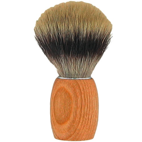 Forsters Wooden Shaving Brush in Ash Tree Wood, Silvertip and Synthetic Vegan Bristles