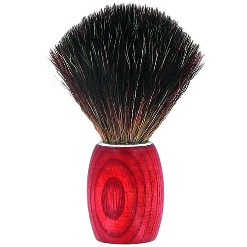 Forsters Wooden Shaving Brush in Ash Tree stained, Black Fibre