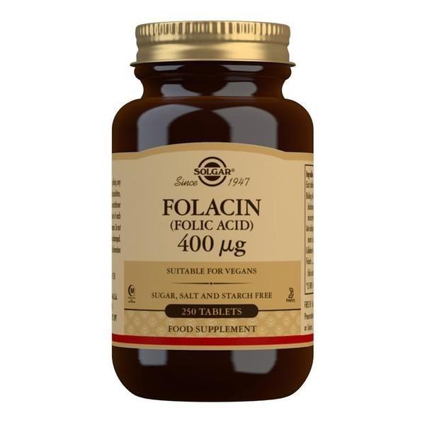 Solgar Folacin (Folic Acid) 400 mcg Tablets - Pack of 250