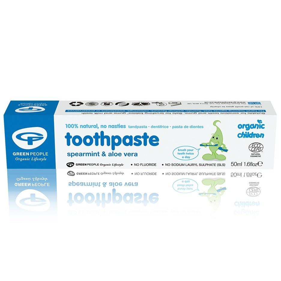 Green People Childrens Spearmint & Aloe Vera Toothpaste 50ml