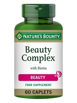 Nature's Bounty Beauty Complex with Biotin 60 Caplets