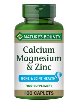Nature's Bounty  Magnesium & Zinc 100 Coated Caplets