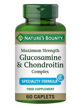 Nature's Bounty Strength Glucosamine and Chondroitin Complex 60 Coated Caplets