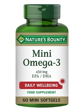 Nature's Bounty Mini Omega-3 450 mg EPA/DHA 60 Softgels