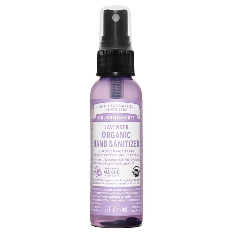 Dr.Bronner's Lavender Hand Sanitizing Spray Organic 59ml