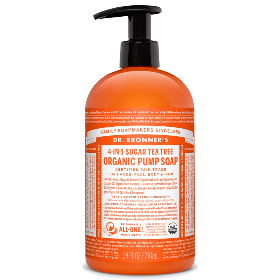 Dr.Bronner's Organic Shikakai Tea Tree Hand Soap 709ml
