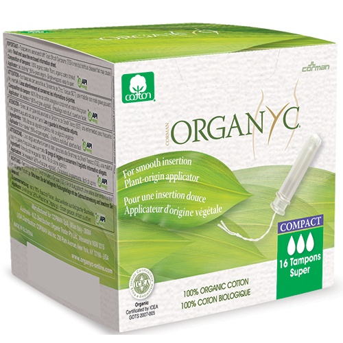 Organyc Compact Applicator Tampons Super - Box of 16