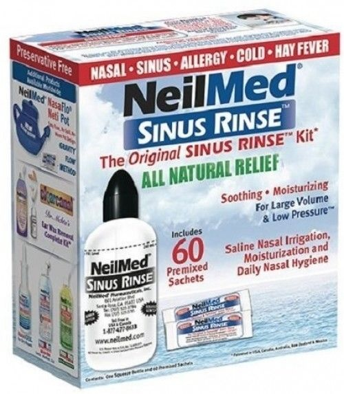 NeilMed Sinus Rinse Kit 60premixed sachets