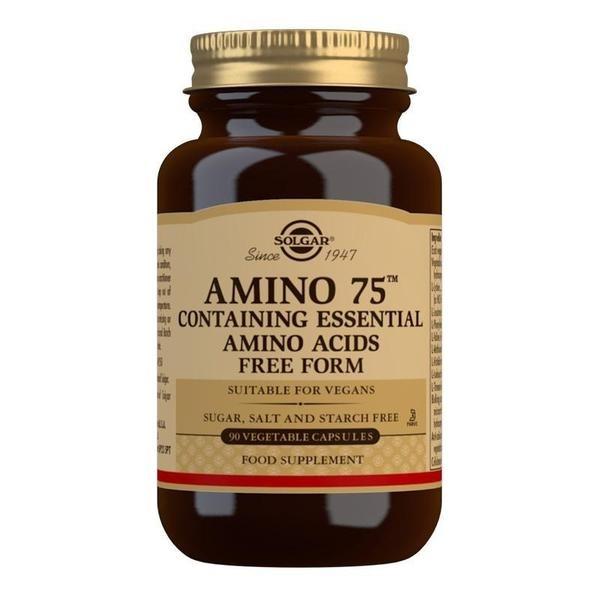 Solgar Amino 75 Essential Amino Acids Vegetable Capsules - Pack of 90