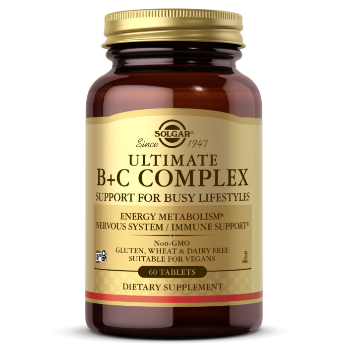 Solgar Ultimate B+C Complex Tablets - Pack of 60