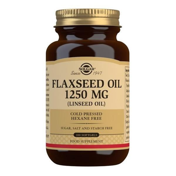 Solgar Flaxseed Oil 1250 mg Softgels - Pack of 100