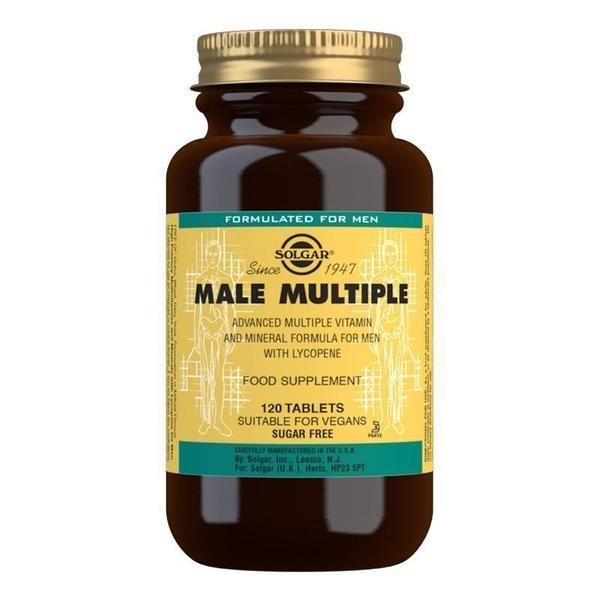 Solgar Male Multiple Multivitamin Tablets - Pack of 120
