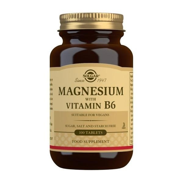 Solgar Magnesium with Vitamin B6 Tablets - Pack of 100