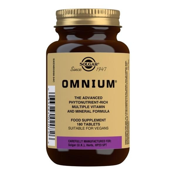 Solgar Omnium Multivitamin Tablets - Pack of 180