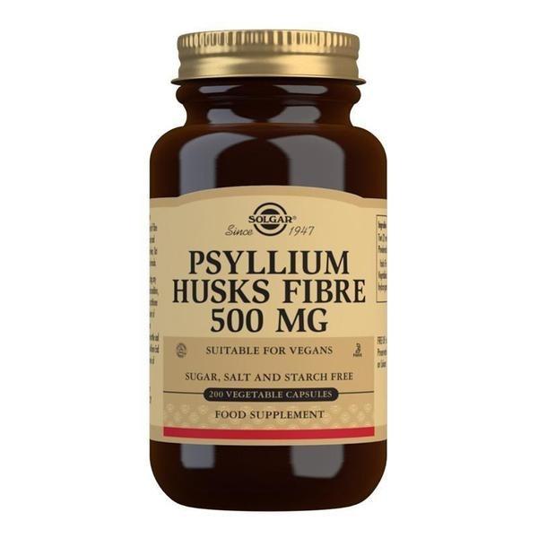 Solgar Psyllium Husks Fibre 500 mg Vegetable Capsules - Pack of 200