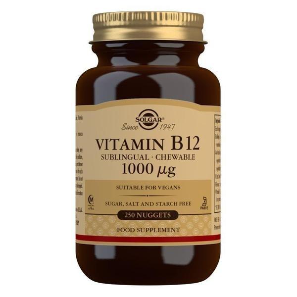 Solgar Vitamin B12 1000 mcg Sublingual - Chewable Nuggets - Pack of 250