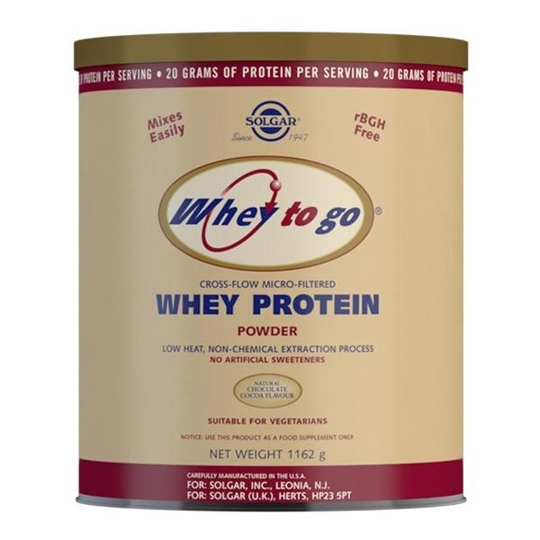 Solgar Whey To Go Natural Chocolate Flavour Protein Powder 1162 g