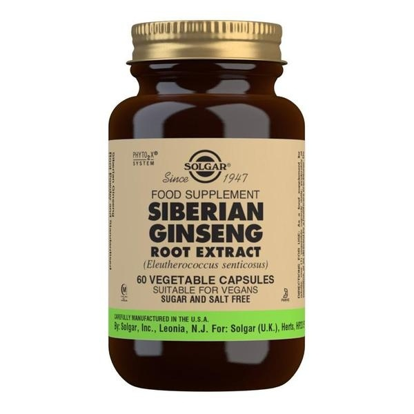 Solgar Siberian Ginseng Root Extract Vegetable Capsules - Pack of 60