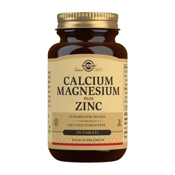 Solgar Calcium Magnesium Plus Zinc Tablets - Pack of 250
