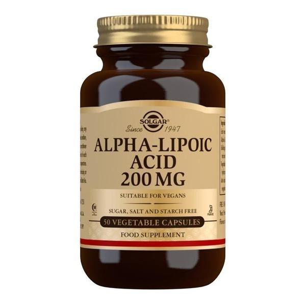 Solgar Alpha-Lipoic Acid 200 mg Vegetable Capsules - Pack of 50