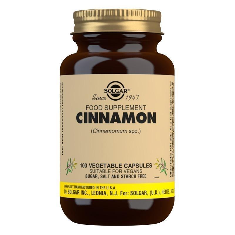 Solgar Cinnamon Vegetable Capsules - Pack of 100