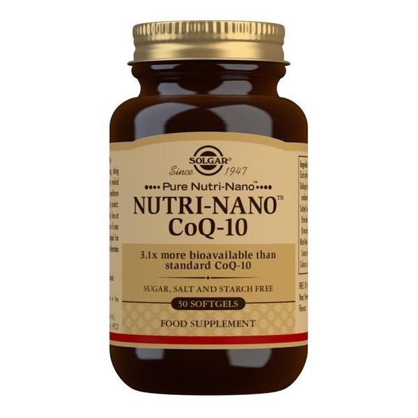 Solgar Nutri-Nano CoQ-10 3.1x Softgels - Pack of 50