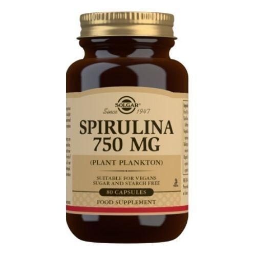 Solgar Spirulina 750 mg Capsules - Pack of 80