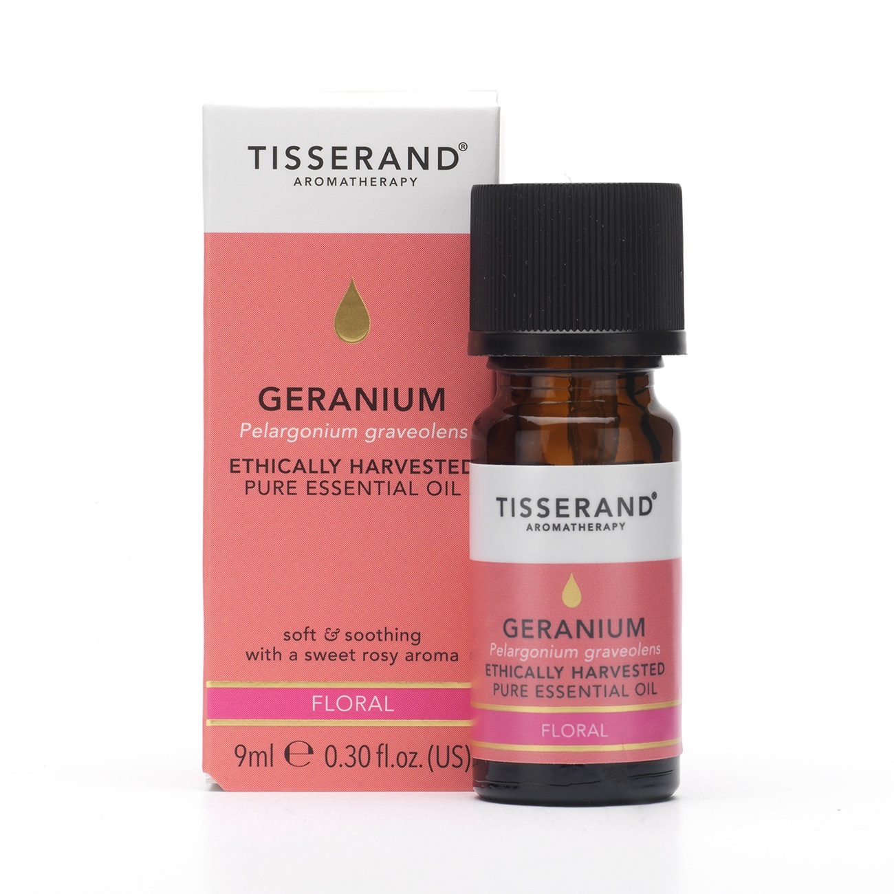 Tisserand Geranium Ethically Harvested Essential Oil 9ml