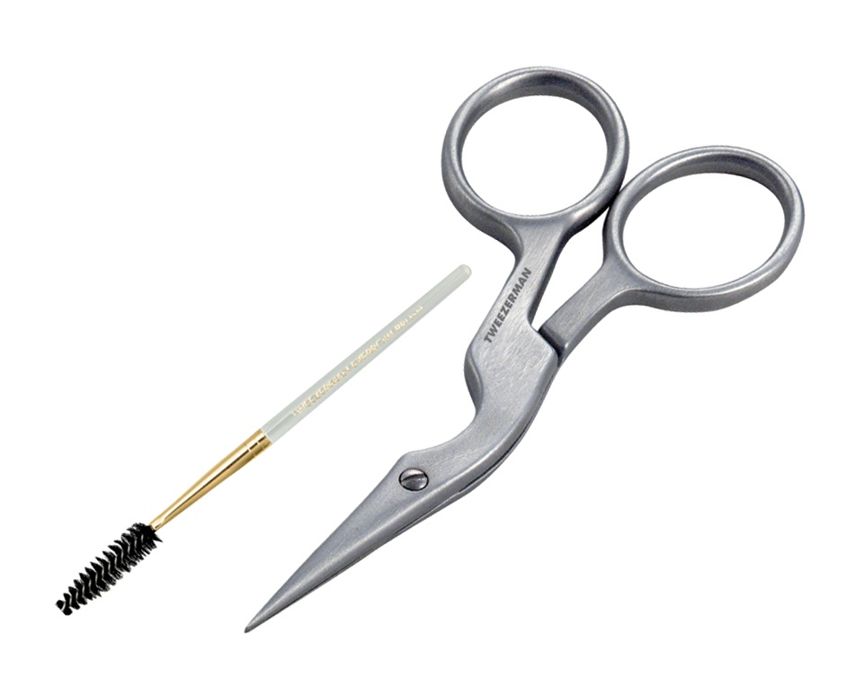 Tweezerman Brow Shaping Scissors & Brush Stainless Steel