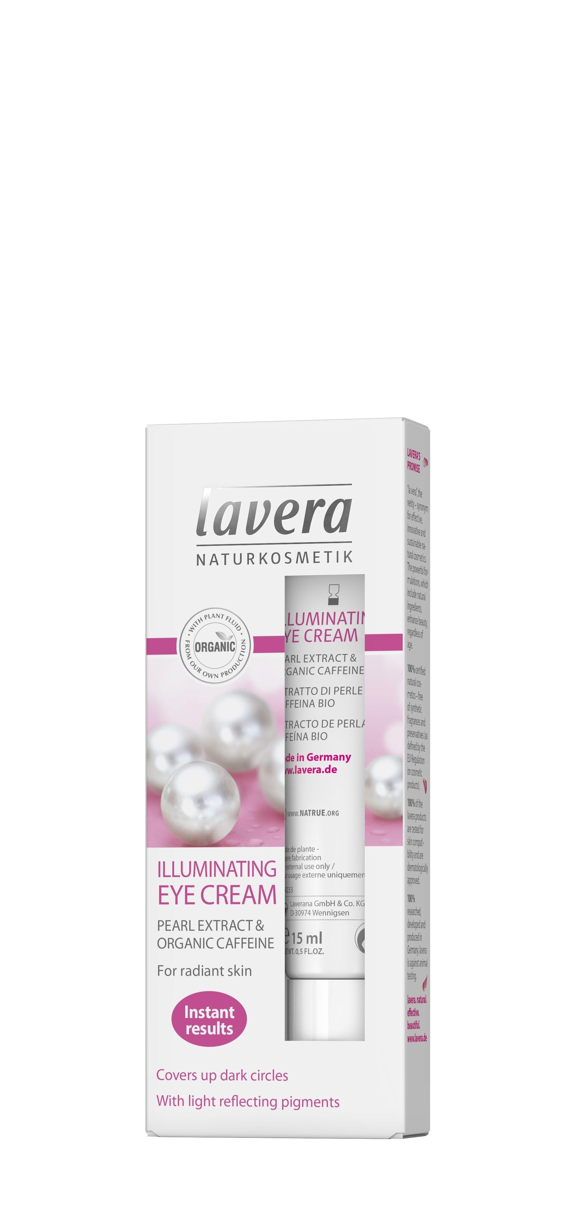 Lavera Illuminating Eye Cream 15ml - for all skin types