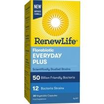Renew Life Florabiotic Everyday Plus 50Bn 30 Capsules
